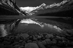 Lake Louise after sunrise (Pradipta Basu) Tags: sky mountain lake snow canada nature sunrise canon landscape rockies eos frozen peak alberta banff lakelouise ef1740f4l 5dmarkiii lee09ndgrad pradiptabasu