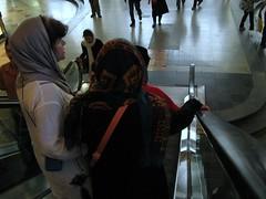 Descending (blondinrikard) Tags: people iran escalator tehran goingdown descending