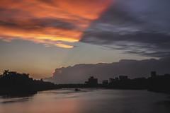 A Sky Divided Over RVA (Joey Wharton) Tags: city sunset skyline clouds buildings outdoors virginia richmond landing va rva rocketts