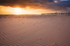 The Sands Of The Spit || MAIN BEACH || GOLD COAST (rhyspope) Tags: australia aussie cld queensland gold coast spit main beach sand ripple sunrise sunset rhys pope rhyspope canon 5d mkii nature natural sun sky clouds pier wharf