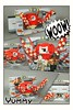 Rathtar Chase - Role play comic strip (bbchai) Tags: lego star wars force awaken rey finn rathtar base chase