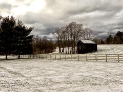 Storm Coming (Paul McCarthy...) Tags: winter scene snow cold delawarecountyohio rt315 barn farm stormy clouds teamsony sonyhx300
