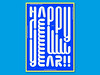 Happy New Year !! (Philippe Nicolas) Tags: card wishes greatings typography flyer modular font design modern simple blue print cover title lettering