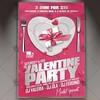Valentine Party – Premium Flyer PSD Template (psdmarket) Tags: dj february flyer heart love loveday party valentine valentines valentinesday valentinesflyer vday