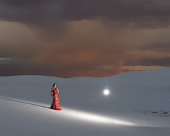 Taylor G at White Sands (Mitch Tillison Photography) Tags: beautiful atmospheric lighting dramatic skies red gown fashion glamour stunning nikond5 tamron70200 f28 mitchtillison photo photography