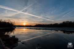 Linee al tramonto (andrea.prave) Tags: natura nature 自然 eðli naturaleza natur природа طبيعة water ticino river fiume parcodelticino lonatepozzolo oleggio lombardia lombardy piemonte varese tramonto sunset atardecer solnedgång solnedgang 夕焼け غروب 日落 שקיעת שמש coucherdusoleil ηλιοβασίλεμα zonsondergang pôrdosol закат puestadelsol sonnenuntergang inverno winter malpensa aerei