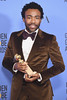 BEVERLY HILLS, CA - JANUARY 08: Actor Donald Glover, winner of Best Actor in a Television Series