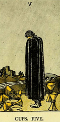 Five of Cups (~ Lone Wadi ~) Tags: tarot tarotcards sorcery blackmagic retro 1910s occult fortunetelling