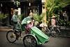 DSC_1991 (Kent MacElwee) Tags: vietnam sea asia southeastasia oldquarter centralvietnam hoian rain bike bicycle rickshaw hat conicalhat