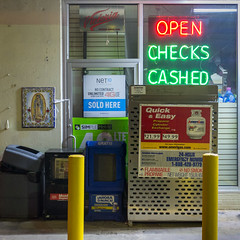 Atlanta, 2016 (Exit Imago) Tags: religion night usa georgia virginmary drugstore lighting neonlight money ~religiousfigures atlanta