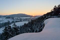 Východ slunce z Klokočských skal