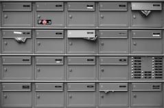 Waiting the postman (ericbaygon) Tags: mail box bw noiretblanc blackwhite numéro bruxelles boîte lettres monochrome d750 nikon nikonpassion number stop
