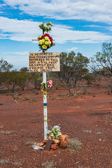 Poor Ron Marks, murdered at this spot, Stuart Highway, north of Coober Pedy, South Australia (Strabanephotos) Tags: poor ron marks murdered this spot stuart highway north coober pedy south australia