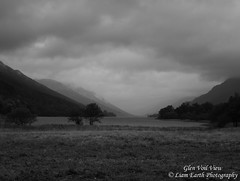 Glen Voil View (liamearth) Tags: earth scotland loch lake shore sky clouds mountain trees fog sceneic bw wind ripple silhouette wilderness beautiful sea view blackandwhite monochrome outdoor water grass voil glen western perthshire landscape