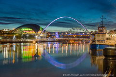 Boats on the Tyne (Explored) (Splendid What) Tags: boat december lights millenniumbridge night quayside river sage tyne tynebridge rivertyne longexposure nightshot nightscene nightphotography newcastleupontyne newcastlegateshead thesage dusk twilight