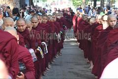 30099729 (wolfgangkaehler) Tags: 2017 asia asian southeastasia myanmar burma burmese mandalay mahagandayonmonastery mahagandayonmonastary people person monks buddhist buddhistmonasteries buddhistmonastery buddhistmonk buddhistmonks almsceremony almsbowls meal
