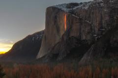 Yosemite Firefall (FollowingNature - Off for couple weeks) Tags: yosemite firefall followingnature highangel sunset horsetailfalls firefalls lava elcapitan 2017