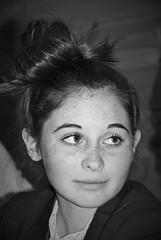 Mes nièces - Léopoldine (dominiquita52) Tags: nb girl fille freckles tachesderousseur portrait