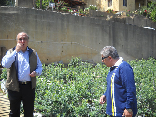 Minister Fady Abboud & Hon. Nadim Ghossoub picking Beerries in Deirkoubel b May 6, 2015