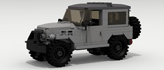 Icon FJ40 (IRL) 2 (LegoGuyTom) Tags: road old city classic wheel japan digital america vintage four japanese drive big power lego offroad 4x4 pov designer 4wd icon off american legos download toyota land cruiser dropbox povray roader offroader lxf 1970's 1960's 1980's