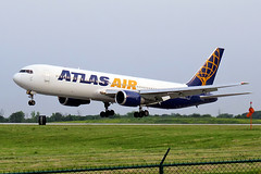 Atlas 767-300 landing at Cleveland (chrisjake1) Tags: cleveland atlas hopkins 767 cle atlasair b767 767300 b767300 763 b763 kcle n641gt