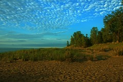 the Beach (Gaby Swanson, Photographer) Tags: beach nature clouds presqueisle palandscape