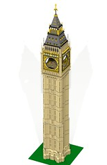 WIP -  Full Big Ben / Elizabeth Tower (garethjellis) Tags: houses building london tower architecture big elizabeth lego ben royal parliament queen