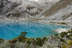 Dipping feet at Laguna 69 (*Andrea B) Tags: camp mountain lake mountains peru southamerica june america spring south hike blanca laguna cordillera quebrada 2015 sesenta nueve laguna69 cordillerablanca llanganuco sesentaynueve quebradallanganuco june2015 spring2015 alvaradoadventures peruandesguide