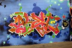 Jersey City: GVM004 - Demolition Exhibition (wallyg) Tags: streetart graffiti newjersey jerseycity nj jc hudsoncounty harsimuscove pepboys downtownjerseycity greenvillain gvm004 demolitionexhibition pepboysautocenter