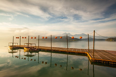 _MG_4125 () Tags: morning blue sky cloud moon lake water ferry clouds photography dawn taiwan          formosan      image  morning sun dawn canon5d2  inverted lak       choi  pier sunrise