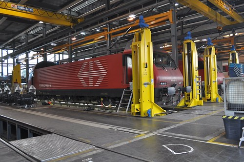 SBB Re 460 006 im Industriewerk Yverdon
