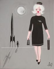 El Gato Gomez (ElGatoGomez) Tags: abstract vintage painting mod retro vogue 1950s 1960s eames outerspace atomic midcenturymodern pinupgirl elgatogomez