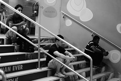 Varies by your view (ah.b ack) Tags: street bw 3 stairs race zeiss 50mm singapore diverse side harbourfront fujifilm distance f15 sonnar xt1 vivocity zeisscsonnar50mmf15t