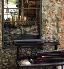51/ windows & doors ~the sequel~ (s@ssyl@ssy) Tags: ontario reflection window glass shop chandelier antiques elora hww windowwednesdays