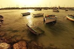 Boats... (hobbit68) Tags: old sunset sky holiday beach clouds strand port canon boats wasser sonnenuntergang outdoor alt sommer urlaub himmel wolken playa boote andalucia espana hafen sonne spanien sonnenschein