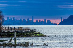 New York City from along the Hudson River (JMFusco) Tags: georgewashingtonbridge canon sunset landscape hastingsonhudson hudsonriver newyork newyorkcity