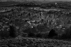 Toytown (explored 29/12/16 #29) (MarkWaidson) Tags: malvern mist hills worcestershire abbey sunrise shadows bw nik imagesfromthedarkside waidson
