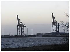 Brake, Hafen (v8dub) Tags: brake hafen sandstedt port grue kran crane landscape paysage landschaft allemagne deutschland germany niedersachsen weser fluss fleuve rivière river