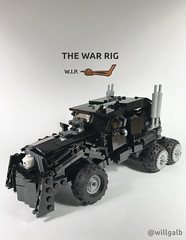War Rig WIP (willgalb) Tags: lego moc car truck war rig mad max fury road warrior mel gibson tom hardy furiosa charlize theron immortanjoe hugh keayes bryne george miller postapocalypse wasteland