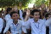 Monks visiting school. (Stone.Rome) Tags: asia school schooluniform boys boyhood smile smiling