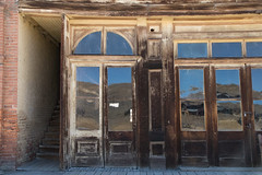 Reflections of the Hills, Bodie, a Ghost Town, California (kmalone98) Tags: bodieca thewildwest 1880sarchitecture reflections antiqueglass