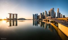 Marina Bay Sunrise (hak87) Tags: singapore marina bay sands city skyline reflections cityscape mbs esplanade jubilee bridge morning sunrise
