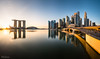 Marina Bay Sunrise (hak87) Tags: singapore marina bay sands city skyline reflections cityscape mbs esplanade jubilee bridge morning sunrise