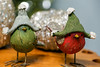 it's so cold out... (Dotsy McCurly) Tags: cold out outside windy hats cute birds christmas red green bokeh dof canoneos5dmarkiii nj stilllife diningroomtable decorations
