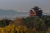 City God pavillon, Hangzhou (Val Guid'Hall) Tags: hangzhou chine china jiangsu province girl chinese portrait city god pavillon west lake lac ouest asie asia longjing street landscape urban balck white color sun light paysage soleil lumière