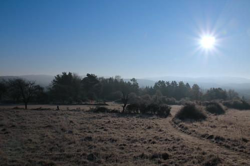 eisiger Morgen in Obertrubach