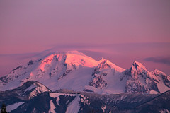 What is Cooking under Baker's Hat? (Dex Horton Photography) Tags: mtbaker lenticular storm brewing pink alpenglow sun sunset noonroad hemmiroad evening outdoors outside washingtonstate dexhorton bellinghamherald