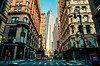 A view to the One World Trade Center. (The Sergeant AGS (A city guy)) Tags: oneworldtradecenter newyork neighborhood city cityscapes colors street walking travelling exploration urban urbanexploration unitedstates perpective