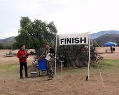 052 Luigi Greeting The Finisher (saschmitz_earthlink_net) Tags: 2017 california orienteering vasquezrocks aguadulce losangelescounty laoc losangelesorienteeringclub