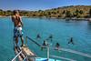 Jummping from the boat (Kornati Excursions) Tags: kornatiexcursions kornati npkornati izletinakornate mikado zadar wwwmikadotourscom tours national park boattrip boat water summer jummp jummping lojena levrnaka sandy beach